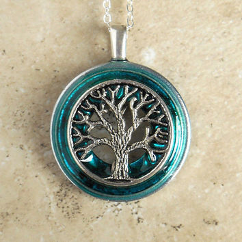 Tree of Life Necklace: Teal - Wiccan Pendant - Celtic Jewelry - Tree Jewelry - Mothers Day - Unique Jewelry - Pendant Necklace