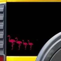Flamingo Family Decal Sticker *J378*