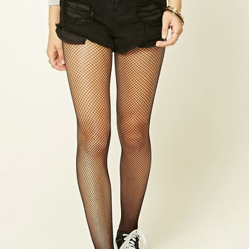Semi-Sheer Fishnet Tights