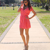 The Reagan Romper, Coral