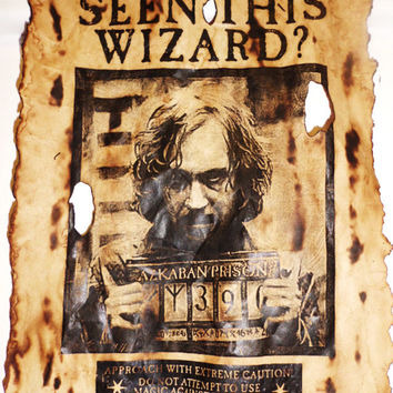 Aged Sirius Black and Harry Potter Wanted Poster Replicas