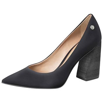 Black Leather Pump High Heel - Dumond