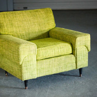 Vintage Mid Century Modern Grass Green Club Chair