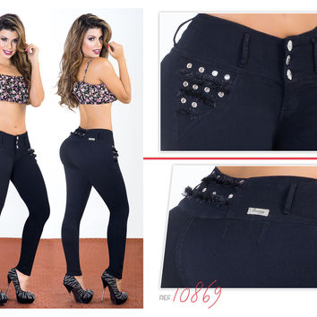 Black 100%  Authentic Colombian Push Up Jean 10869 by Fantasy