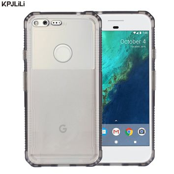 Anti-Knock Thin Case Cover for Google Pixel/Pixel XL 5.0 5.5 inch Clear Mobile Phone Shell Luxury Crystal Soft TPU Back Cover
