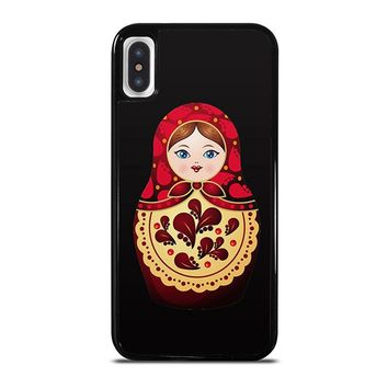 MATRYOSHKA RUSSIAN NESTING DOLLS iPhone X Case Cover