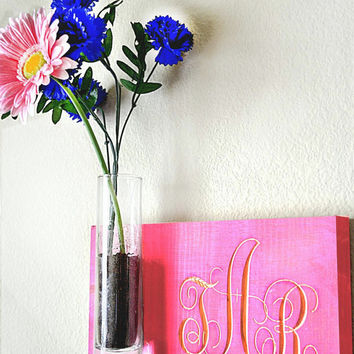 Personalize Wood Wall Hanging Monogram Planter,Plant Hanger,Wall Art,Wall Decor,Wood Wall Art,Wooden Monogram,Wall Hanging Plant