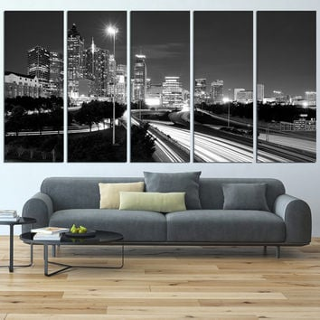 Atlanta canvas art print , Atlanta skyline wall art, large canvas art print, extra large wall art, Atlanta skyline wall decor art  t452