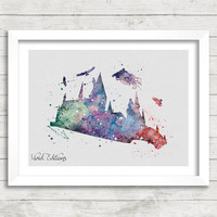 Harry Potter Poster, Dementor Watercolor Poster, Kids Room Wall Art Print, Minimalist Home Decor, Not Framed, Buy 2 Get 1 Free! [No.66]