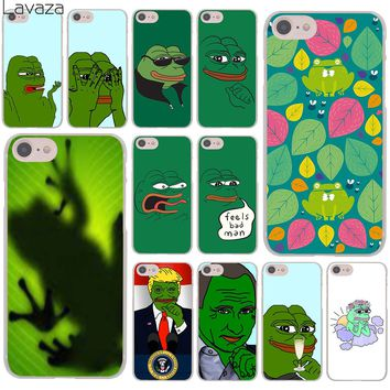 Lavaza the Frog meme pepe Hard Cover Case for Apple iPhone 8 7 6 6S Plus 5 5S SE 5C 4 4S X 10 Coque Shell
