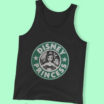 Ariel Mermaid Starbuck Disney Princess Men'S Tank Top