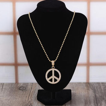 Retro Unisex Peace Necklace Gift 16