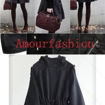 Womens Winter Warm WOOLEN Trench Coat Parka Jacket Fashion Outerwear = 1946137412