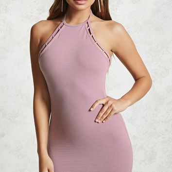 Knit Halter Mini Dress
