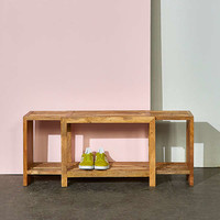 Damien Expandable Wooden Bench | Urban Outfitters