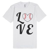 LOVE Quad Baseball or Softball-Unisex White T-Shirt
