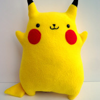 Pokemon Pikachu -- Fat, Cute, Chubby Stuffed Animal Plush