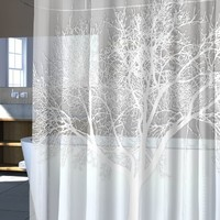 Splash Home EVA Shower Curtain, 70 by 72-Inch, Tree Pearl