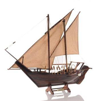DHOW MEDIUM Hancrafted Boats & Canoes Models