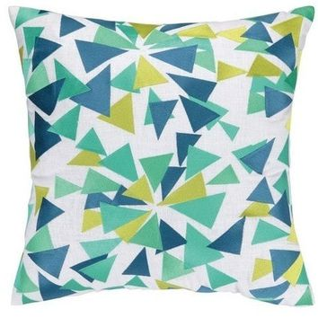 Confetti Design Lime Throw Pillow