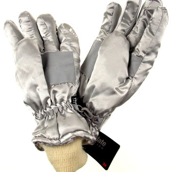 Joe Boxer Girls Gloves Silver Hearts Wings 3M Thinsulate 40g Waterproof Winter