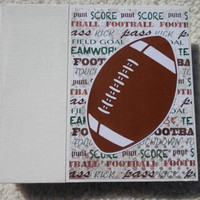 6x6 PreMade Football Scrapbook Photo Album