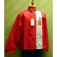 1960s-70 Coke Coca Cola Windbreaker Racing Strip NOS XL Its The Real Thing Vintage