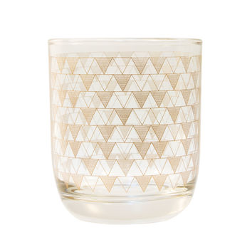 Low Ball - Copper Triangles Set of 6