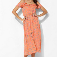 Lucca Couture Flutter-Sleeve Midi Dress - Urban Outfitters