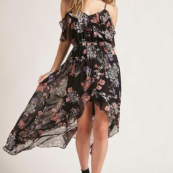 Floral High-Low Dress