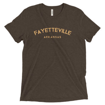 Fayetteville Arkansas Short sleeve t-shirt | The Inked Elephant