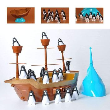 Children Funny Balancing Penguin Pirate Boat Board Game Family Kids Board Table Game Children Learning Educational Toys