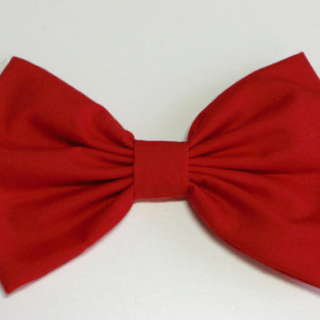 Red Hair Bow Clip Red Bow Snow White Bow Red Hair Clip Adults Hair Bow Snow White Costume Red Fabric Bow red fabric Clip for kid hairbows