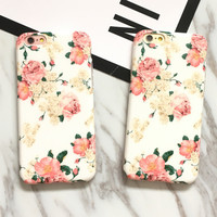 Vintage Floral iPhone 7 7Plus & iPhone se 5s 6 6 Plus Case Best Protection Cover +Gift Box-532