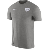 Kansas State Wildcats Nike 2017 Coaches Dri-FIT Touch Top - Charcoal