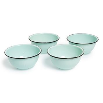 Park Hill Collection Enamelware Bowls - Blue (Set of 4)