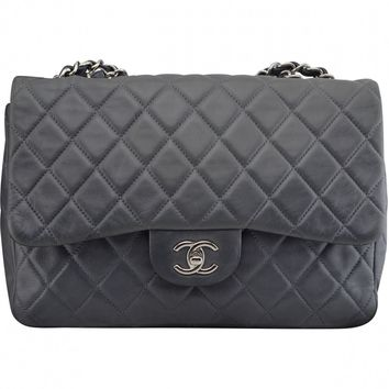 Timeless leather crossbody bag CHANEL Anthracite