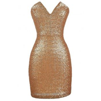 Lily Boutique Strapless Gold Dress, Gold Sequin Dress, Cute New Years Dress, Cute Holiday Dress, Gold Sequin Party Dress, Gold Sequin Cocktail Dress, Strapless Gold Sequin Party Dress Lily Boutique