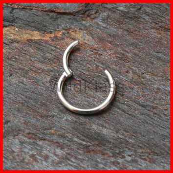 Hinged Septum Ring 16G 14G Steel Segment Seamless Nose Hoop Lip Nipple Ring Cartilage Earring Helix Piercing Tragus Jewelry Rook Earring