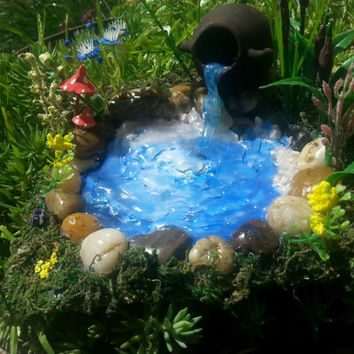 Fairy Garden Pond, Fairy Pond, Miniature Pond, Fairy Garden Accessory, Miniature Garden Pond, Miniature Garden Accessory,