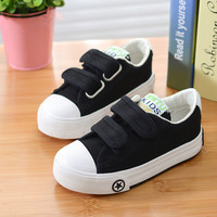 2016 Autumn Children Solid Color Casual Canvas Shoes Boys Girls Shoes Fashion Sneakers Outdoor Sports Shoes For Kids Size18-37