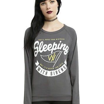 Sleeping With Sirens Gold Flag Girls Top