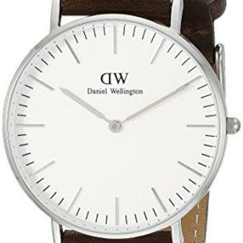 Daniel Wellington Women's 0611DW Bristol Stainless Steel Watch with Leather Band