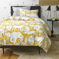 DwellStudio Wildwood Citrine Duvet Set