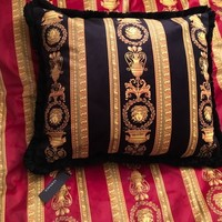 "$400 VERSACE PILLOW MEDUSA CUSHION SHAM BEDDING DECOR LARGE 24"" NEW SALE"