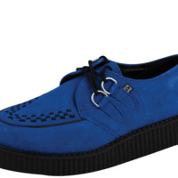 Electric Blue Suede Low Creeper - A8282