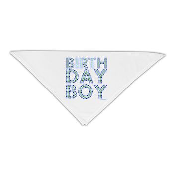 """Birthday Boy - Blue and Green Dots Adult 19"""" Square Bandana by TooLoud"""