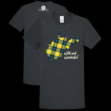 Southern Couture Preppy Plaid West Virginia Soft T-Shirt