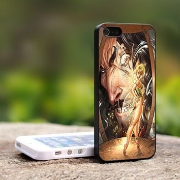Tinkerbell Disney Character - For iPhone 5 Black Case Cover