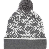 SPORTY SNOWFLAKE PATTERN BEANIE - Hats - Shoes and Accessories